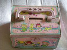 80s plastic bank box.had this exact one!