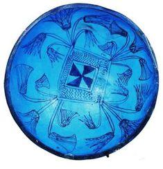 Faience bowl, Dynasty XIX, New Kingdom, Egypt; British Museum