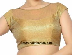 Saree Blouse Design Ideas - Browse here for latest Designer Blouse Designs, Back Neck Designs, Blouse Designs for Silk Sarees, Plain Sarees and much more. Golden Blouse Designs, Netted Blouse Designs, New Blouse Designs, Blouse Neck Designs, Dress Designs, Blouse Neck Patterns, Designer Blouse Patterns, Net Blouses, Boat Neck Dress