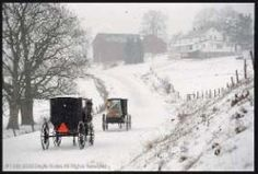 Headed back to the farm on a snowy day! .......Amish life