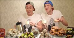 Everybody have a SWEDISH FIKA!! Listen to this video in English!!  Oskar och Gustaf hoppas förbättra världen med fika. Här är reklamlåten som sätter sig på hjärnan.