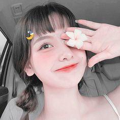 Pretty Korean Girls, Cute Korean Girl, Asian Girl, Aesthetic Women, Aesthetic Girl, Cute Girl Pic, Cute Girls, Blue Aesthetic Pastel, Makeup Tumblr