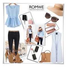 """""""Romwe #2#"""" by riborn ❤ liked on Polyvore featuring Chanel, Urban Decay, Sigma Beauty, Mark Cross, Max Studio, Maison Michel, New Look and ALDO"""