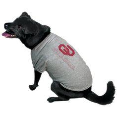 Oklahoma Sooners Ash Logo Pet T-shirt