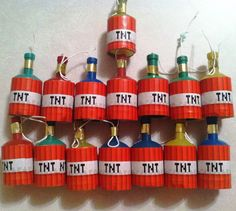Minecraft Party TNT Poppers, might be too dangerous for 5 year olds....