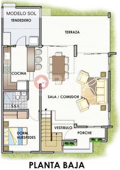 Plano de casa moderna de 2 pisos y 125 m2 cubiertos for Casa moderna autocad