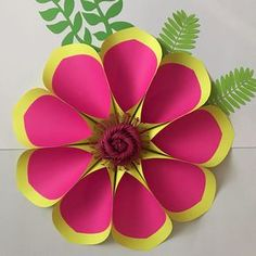 PDF Paper Flower Template with Base DIGITAL Version