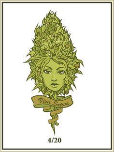 Bud Girl Marijuana Art - CannabisTutorials.com