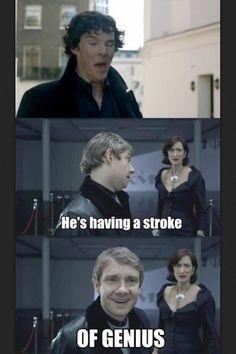 Stroke of a genius! #sherlock