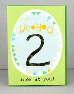 2nd Birthday Card For Boys