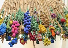 'flora plastica' - Over 2,000 recycled, colored plastic bags, Tacoma Art Museum, WA 2011