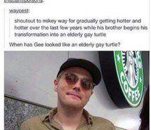 Elderly gay turtle Gerard Way