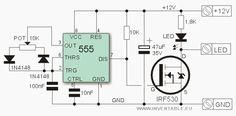 Circuito electrónico del regulador con 555