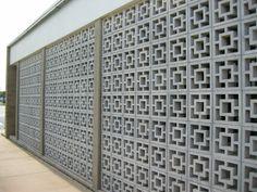 Fort Walton Beach FL City Hall Concrete Block Screen. Architects: Ricks & Kendrick, 1963.