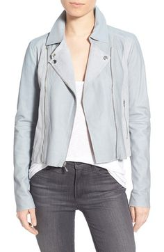 Paige Denim 'Silvie' Leather & Suede Moto Jacket available at #Nordstrom
