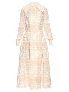 EMILIA WICKSTEAD Alicia Long-Sleeved A-Line Dress. #emiliawickstead #cloth #dress