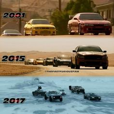 2001 ↔ 2017 #FastFamily - thefastfuriousfam Official (@thefastfuriousfam) Fast And Furious Memes, Need For Speed Movie, Comics Spiderman, Pikachu Memes, Dom And Letty, Cobra Kai Dojo, Paul Walker Pictures, Dominic Toretto, Fate Of The Furious