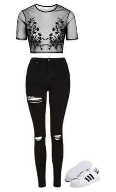 """Untitled #17"" by halle2273 ❤ liked on Polyvore featuring Topshop and adidas Originals"