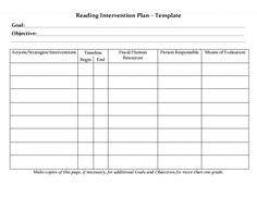Educational Progress Report Template Professional Student Planner Templates Reading Intervention Plan Template