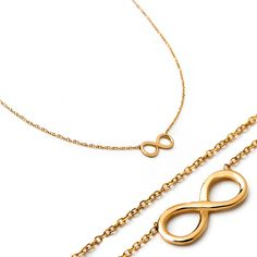 14k solid gold infinity necklace. Small infinity necklace. Classic 14k solid…