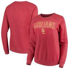 10e49fe4a17a7 Women s Cardinal USC Trojans Colba Applique Pullover Sweatshirt