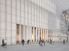 Musée des Beaux-arts in Reims by David Chipperfield Architects - The building will be clad in translucent white marble and glass.