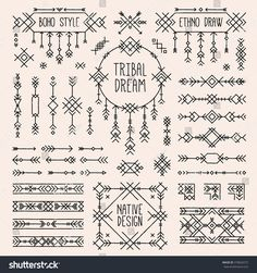 Tribal elements set.