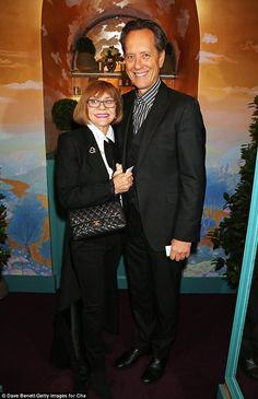 What a night: Richard E. Grant and his wife Joan Washington looked happy to be at the a-list party