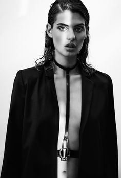 YVY - BRUT collection - Eileen Harness on yvy. Black Color Palette, Eileen Gray, University Style, Chanel Iman, Leather Pieces, Eva Longoria, Elegant Outfit, Female Images, Vegetable Tanned Leather