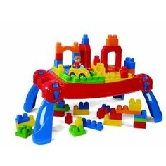 Mega Bloks Play'n Go Table + 50 Bonus bloks by Mega Bloks. $99.95. Mega Bloks Play 'n Go Table. Bright, bold and bountiful, the Play 'n Go Table is a 3-in-1 construction marvel and the ultimate toy for home, daycare and school fun! This Play 'n Go Table can be brought everywhere and unfolds in a snap, acting as a building platform and practical storage container.  From a multi-story house with garage area, to secret passageways and spectacular arches, let your kid's creativity...