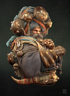 The Sikh by Marco Rizzotti (Senior Game Artist at King) Artstatio Character Sketches, Character Concept, Character Art, Character Design, Concept Art, Character Creation, Fantasy Warrior, Fantasy Art, Guru Nanak Wallpaper