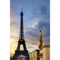 Eiffel tower Paris ❤ liked on Polyvore featuring backgrounds, pictures, paris, sfondi and eiffel tower