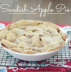 Swedish Apple Pie- No crust worries here; this pie makes it's own unique cookie crust!