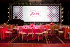 """""""Where there is love there is life"""" theme with a cross motif reception backdrop, Event Design by Amorology and photo by Sunday Romance"""