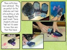 So many paint engagement ideas (mits, bottles, rollers...)