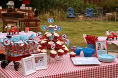 Red Wagon 1st Birthday Party - Adorable!