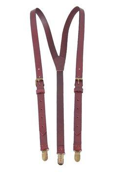 Genuine Leather Suspenders / Groomsman Wedding Suspenders in Coffee 0191