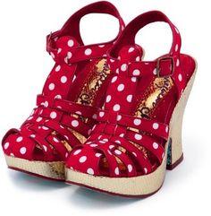 Dots strap sandal / POPSUGAR Shopping: COCUE ドットストラップサンダル