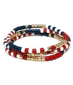 Tube Bead Bracelet Set Stretch Bracelets, Beaded Bracelets, New Shop, Bracelet Set, Tube, Fashion Jewelry, Beads, Accessories, Color