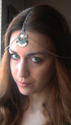 CHAIN HEADPIECE Head Chain  headdress gypsy head piece . by Ninnos, $30.00