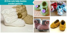 Free Crochet Baby Dress Patterns | crochet baby booties are the perfect handmade baby shower gift that ...