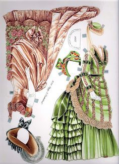 A French Basque Lady (c. 1885) Paper Doll , by Peggy Jo Rosamond