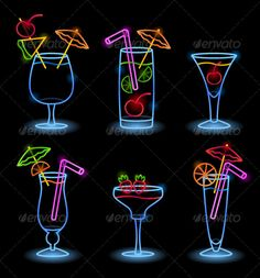 neon tropical signs - Google Search