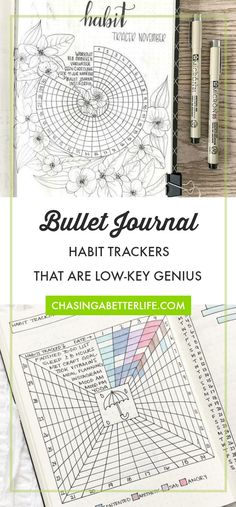 Bullet Journal Habit Tracker Ideas That are low key genius