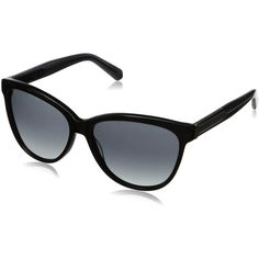 Marc by Marc Jacobs Women's MMJ411S Wayfarer Sunglasses (£59) ❤ liked on Polyvore featuring accessories, eyewear, sunglasses, cat-eye glasses, wayfarer style glasses, marc by marc jacobs, cateye sunglasses and plastic sunglasses