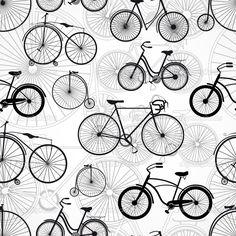 Bicycle seamless pattern - Stock Illustration: 28945067