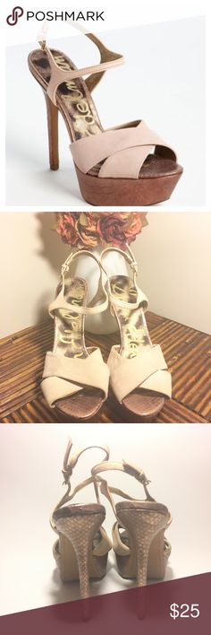 """Sam Edelman Mason Heels Heel is 5"""" and Platform is 1 1/2"""". Lift pink Suede. Rose Gold heel and Platform. Has a few tiny dark marks (from jeans) otherwise in great condition. Sam Edelman Shoes Platforms"""