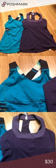 Activewear Two Lululemon workout tops in excellent condition size 6 you could buy them Buy them separate or get a great deal and buy both of them lululemon athletica Other