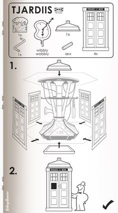 Ikea's instructions for building a TARDIS