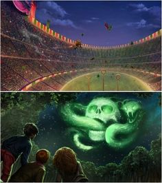 Quidditch World Cup and how the Dark Mark should have looked.